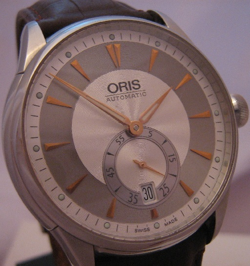 Oris Artelier Small Seconds, Silver Dial With Leather Strap
