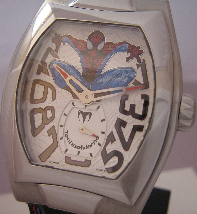 Technomarine Spider-Man Ltd Edition, White Dial, Leather Strap