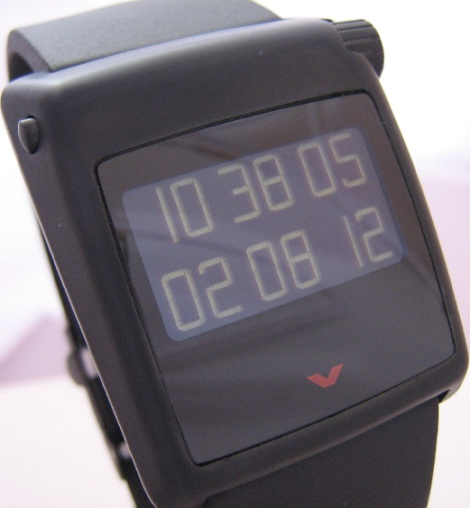 Ventura V-tec Kappa Digital Watch, Black Dial With Rubber Strap