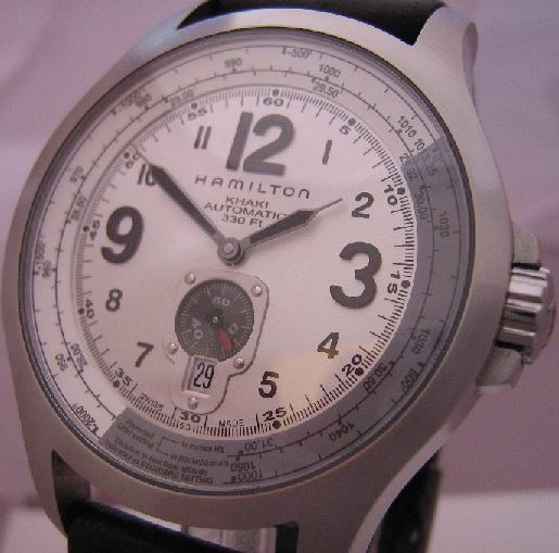 Hamilton Khaki QNE Automatic, Silver Dial With Leather Strap