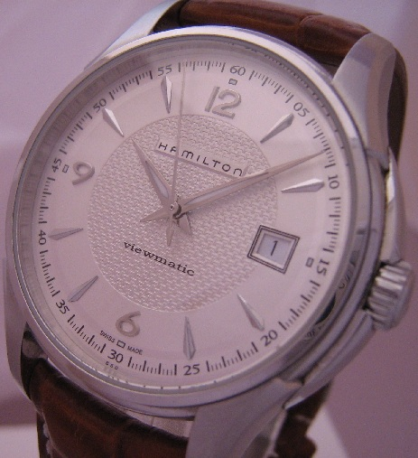 Hamilton Jazzmaster Viewmatic, Silver Dial With Leather Strap