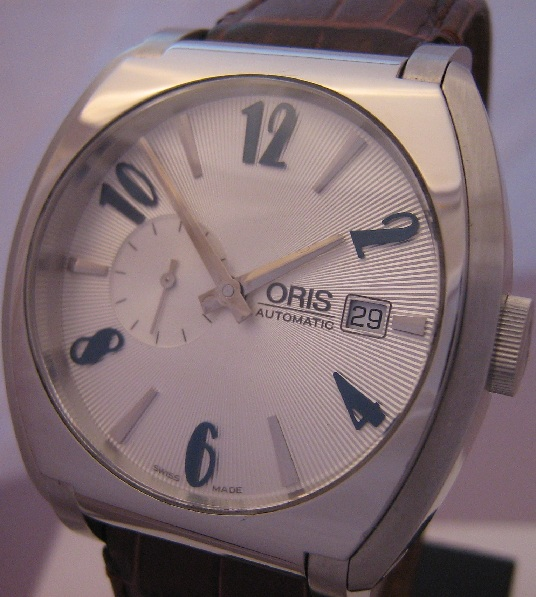 Oris Frank Sinatra Small Seconds, Silver Dial With Leather Strap