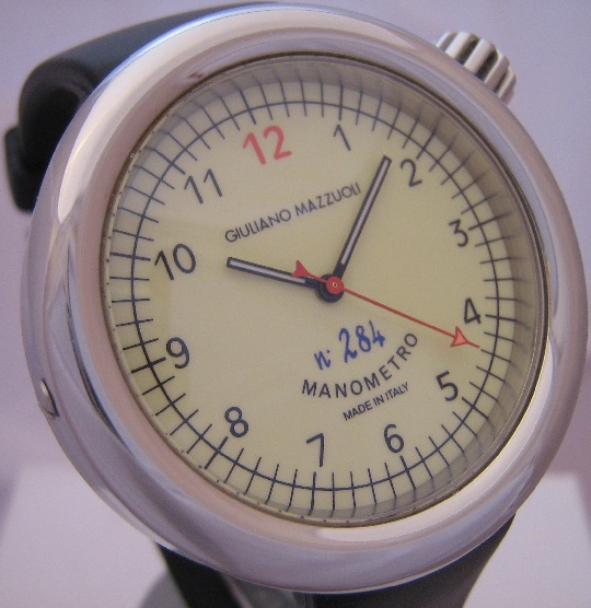 Giuliano Mazzuoli Manometro Millesimato, Cream Dial With Rubber Strap