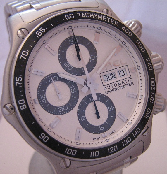 Ebel Discovery 1911 Chronograph, Silver Dial With Bracelet