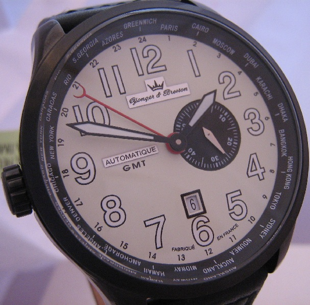 Yonger & Bresson Jules Verne GMT, Cream Dial, Leather Strap