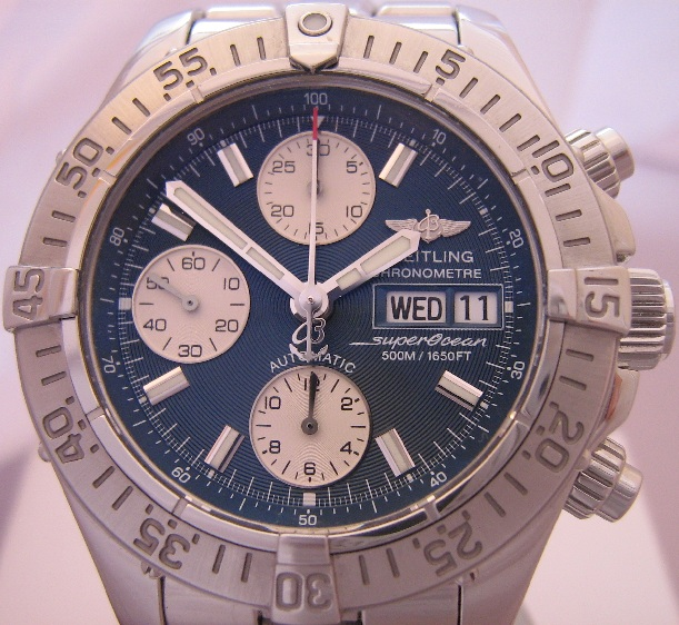 Breitling SuperOcean Chronograph, Blue Dial With Bracelet