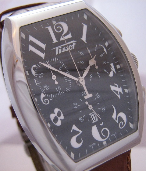 Tissot Porto Chronograph, Black Dial With Leather Strap