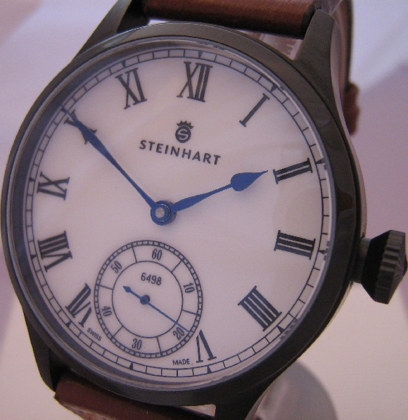 Steinhart Marine Chronometer II, White Dial, Leather Strap