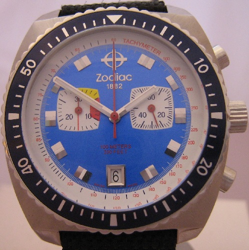 Zodiac Seadragon Chronograph, Blue Dial With Nylon Strap
