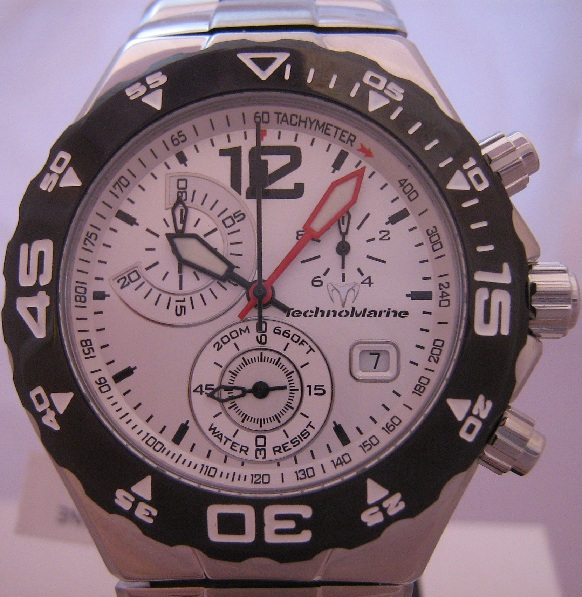 Technomarine Magnum Moonsun TMY, Silver Dial With Steel Bracelet