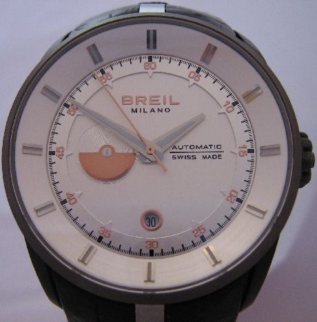 Breil Milano Automatic Watch, Silver Dial With Leather Strap