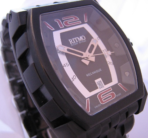 Ritmo Mvndo Impero, Black Dial With Black Steel Bracelet