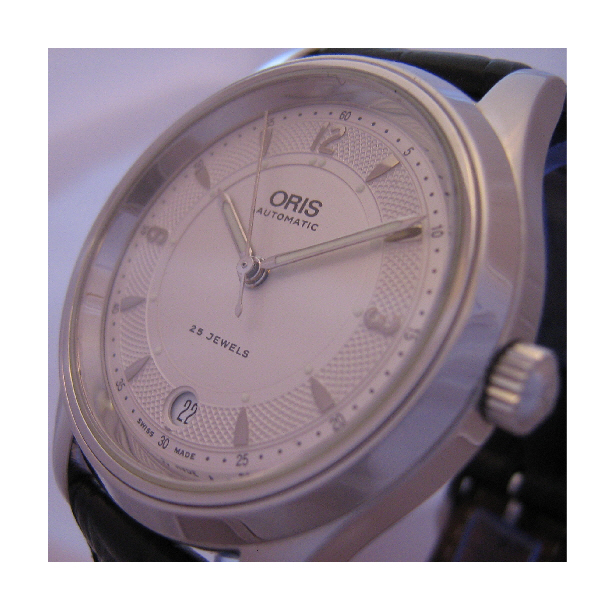 Oris Modern Classic Watch, White Dial With Black Leather Strap