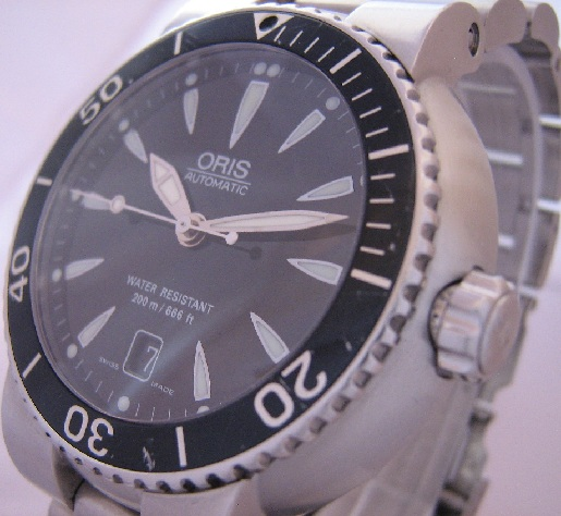 Oris TT1 Divers Watch, Black Dial With Stainless Steel Bracelet