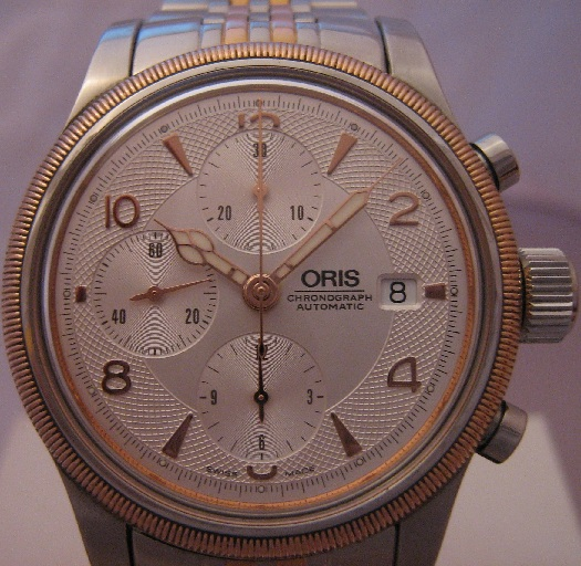 Oris Big Crown Chronograph, Silver Guilloche Dial, Steel Bracelet