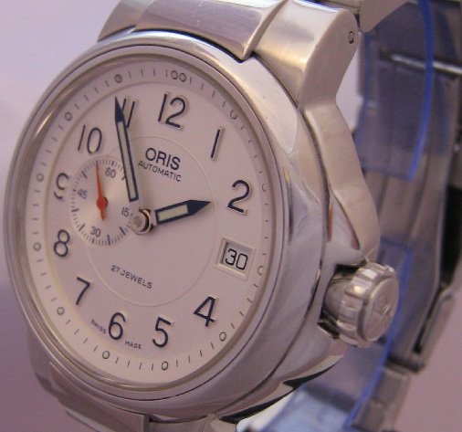 Oris Full Steel Small Seconds, White Dial With Steel Bracelet
