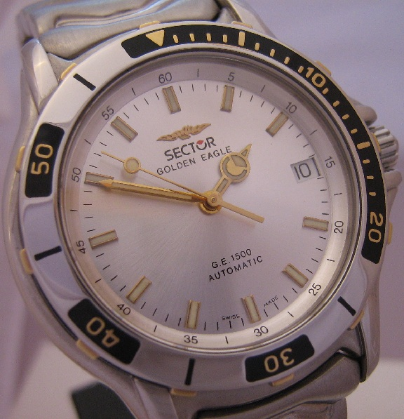 Sector Golden Eagle 1500, Silver Dial With Stainless Steel Bracelet