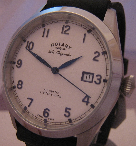 Rotary Les Originales Ltd Edition, White Dial, Rubber Strap