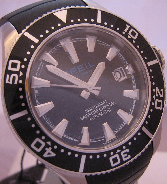 Breil Milano Manta Automatic, Black Dial With Rubber Strap