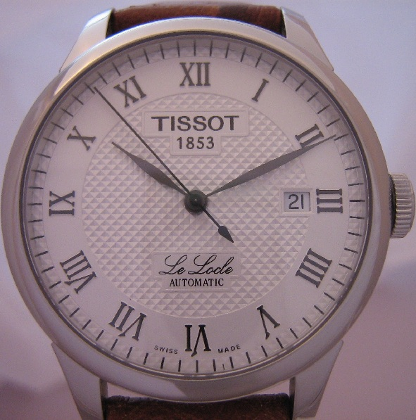 Tissot Le Locle Automatic, Silver Dial With Leather Strap