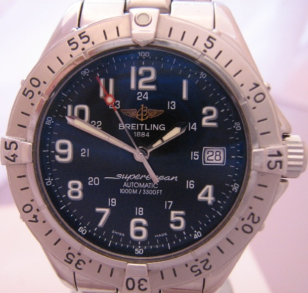 Breitling Superocean Automatic, Black Dial, Stainless Steel Bracelet