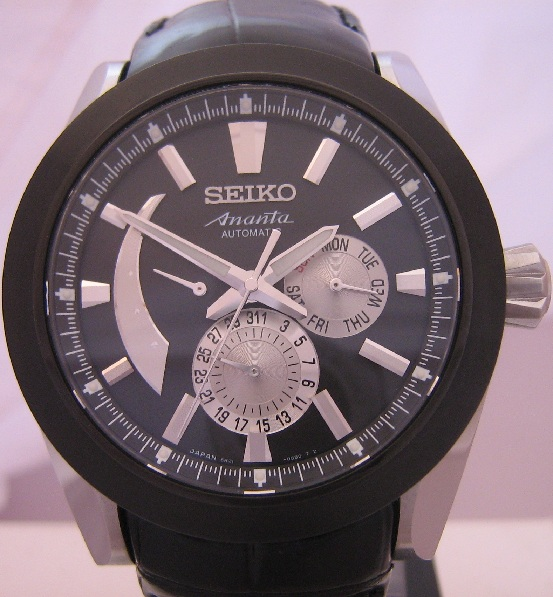 Seiko Ananta Multi Hand, Black Dial With Leather Strap