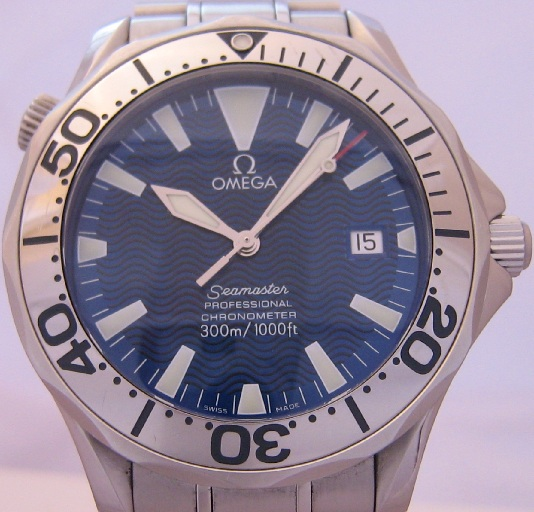 Omega Seamaster Professional, Blue Dial With Stainless Steel Bracelet