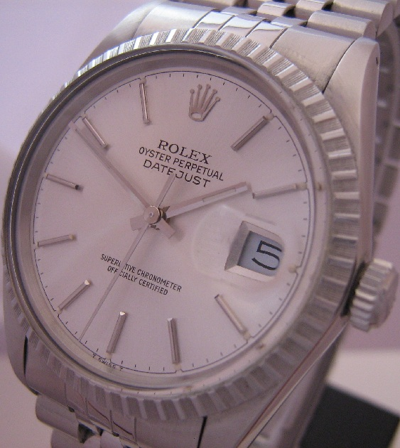Rolex Oyster Perpetual Datejust, SIlver Dial With Jubilee Bracelet