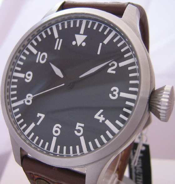 Azimuth Bombardier I, Black Dial With Leather Straps