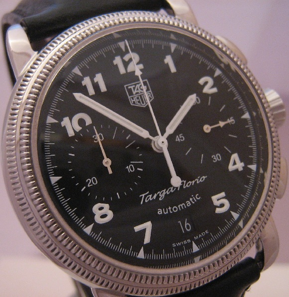 Tag Heuer Targa Florio, Black Dial With Leather Strap