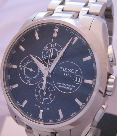 Tissot Couturier Automatic Chronograph, Black Dial With Bracelet