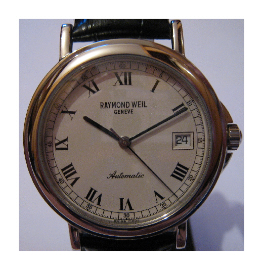 Raymond Weil Tradition Watch, White Dial With Leather Strap