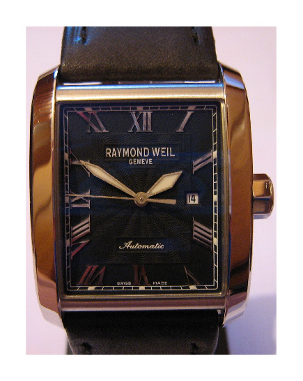 Raymond Weil Don Giovanni Automatic Watch, Black Dial With Leather Strap