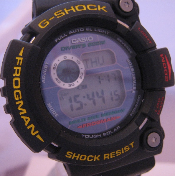 Casio G Shock Final Frogman, Black Case & Strap