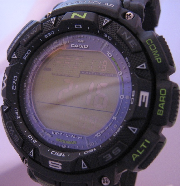 Casio Pro Trek Triple Sensor, Black Case & Strap