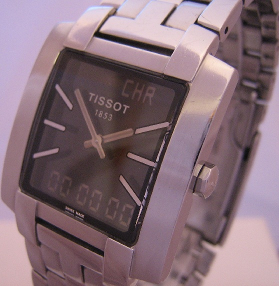 Tissot TXL 7 Analogue Digital Watch With Stainless Steel Bracelet