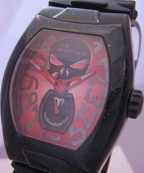 Technomarine Punisher Limited Edition, Red Dial, Two Straps