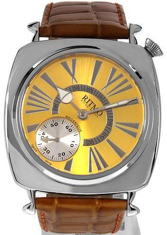 Ritmo Mvndo Centurion Watch, Gold Dial With Leather Strap