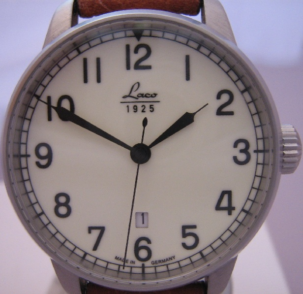 Laco Marine Automatic, Cream Dial With Leather Strap
