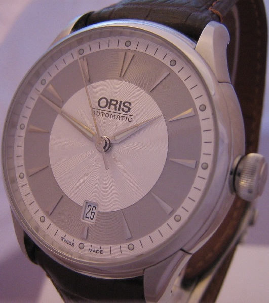 Oris Artelier Automatic Watch, Silver Dial With Leather Strap