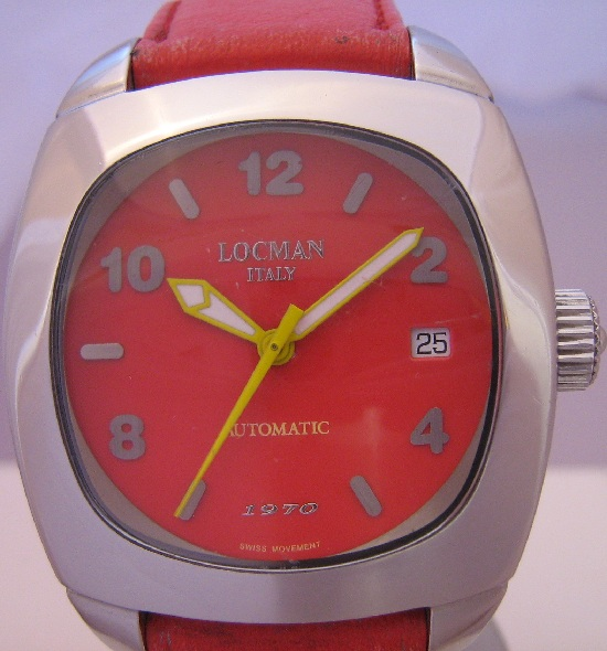 Locman 1970 Automatic, Red Dial With Red Strap