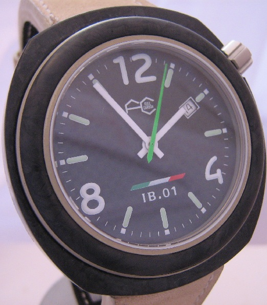 Full Carbon IB01 Desert Storm, Black Dial With Leather Strap