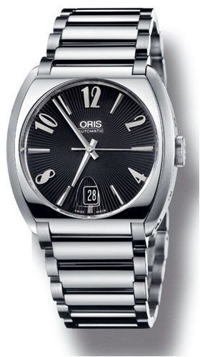 Used Oris Frank Sinatra Date Watch, Black Dial With Stainless Steel Bracelet