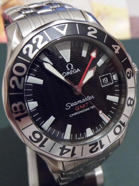 Omega Seamaster GMT 50 Years, Black Dial, Bracelet