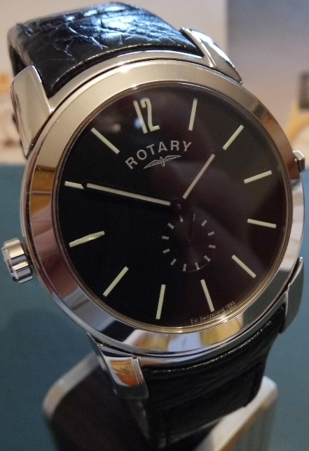 Rotary Revelation, Black / Silver Dial, Leather Strap
