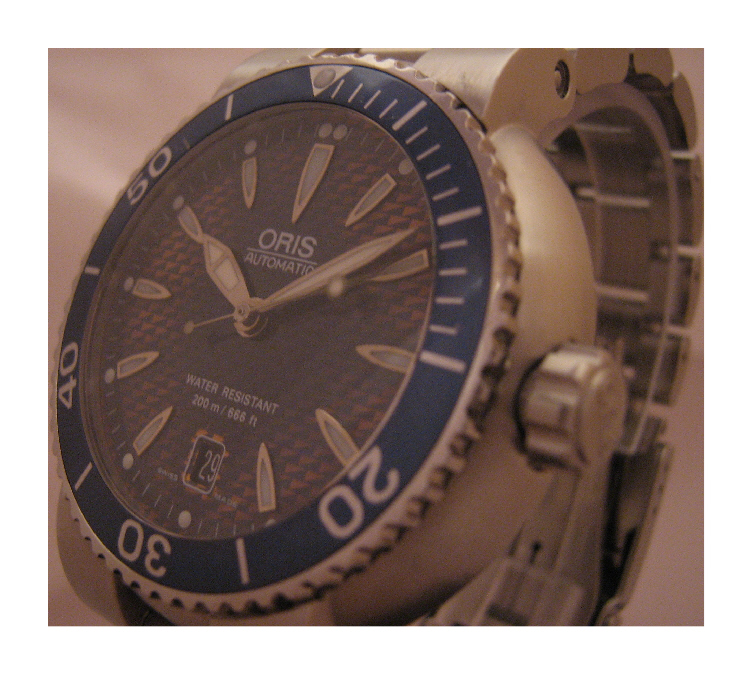 Oris TT1 Divers Watch, Blue Dial With Stainless Steel Bracelet