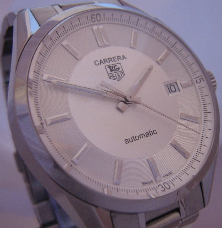 Tag Heuer Carrera Automatic, Silver Dial With Stainless Steel Bracelet