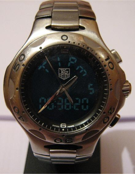 Used Tag Heuer Kirium F1 Watch, Black Dial With Steel Bracelet