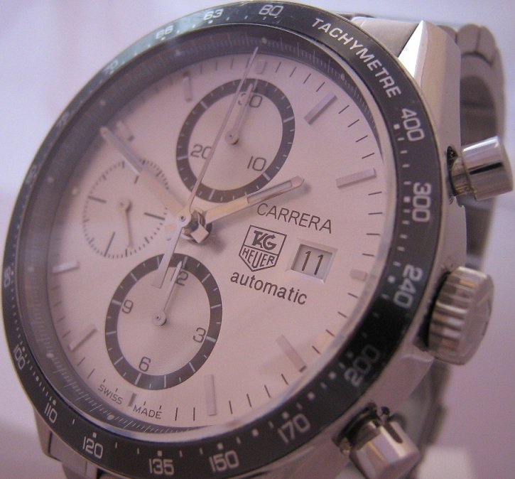 Tag Heuer Carrera Chronograph, Silver Dial With Stainless Steel Bracelet