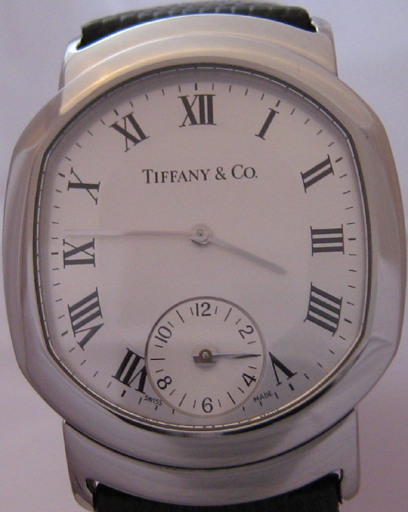 Tiffany & Co Duo Dual Time Watch, Silver Dial With Leather Strap